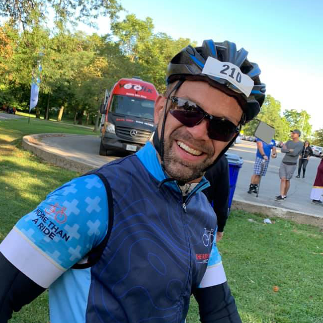Mark F. - Ride for Life Chicago Captain and champion 2020